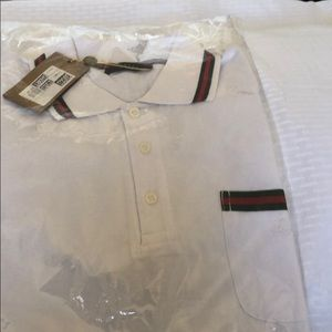 White and red Gucci polo shirt